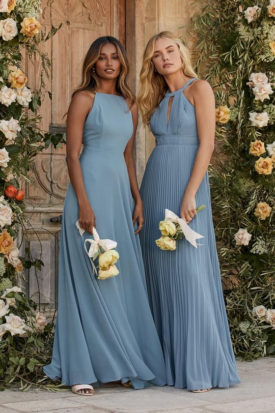 bridesmaid dresses, bridesmaid dress ideas, bridesmaid dress colors, bridesmaid dress styles, affordable bridesmaid dress, blue bridesmaid dress, halter bridesmaid dress, maxi bridesmaid dress