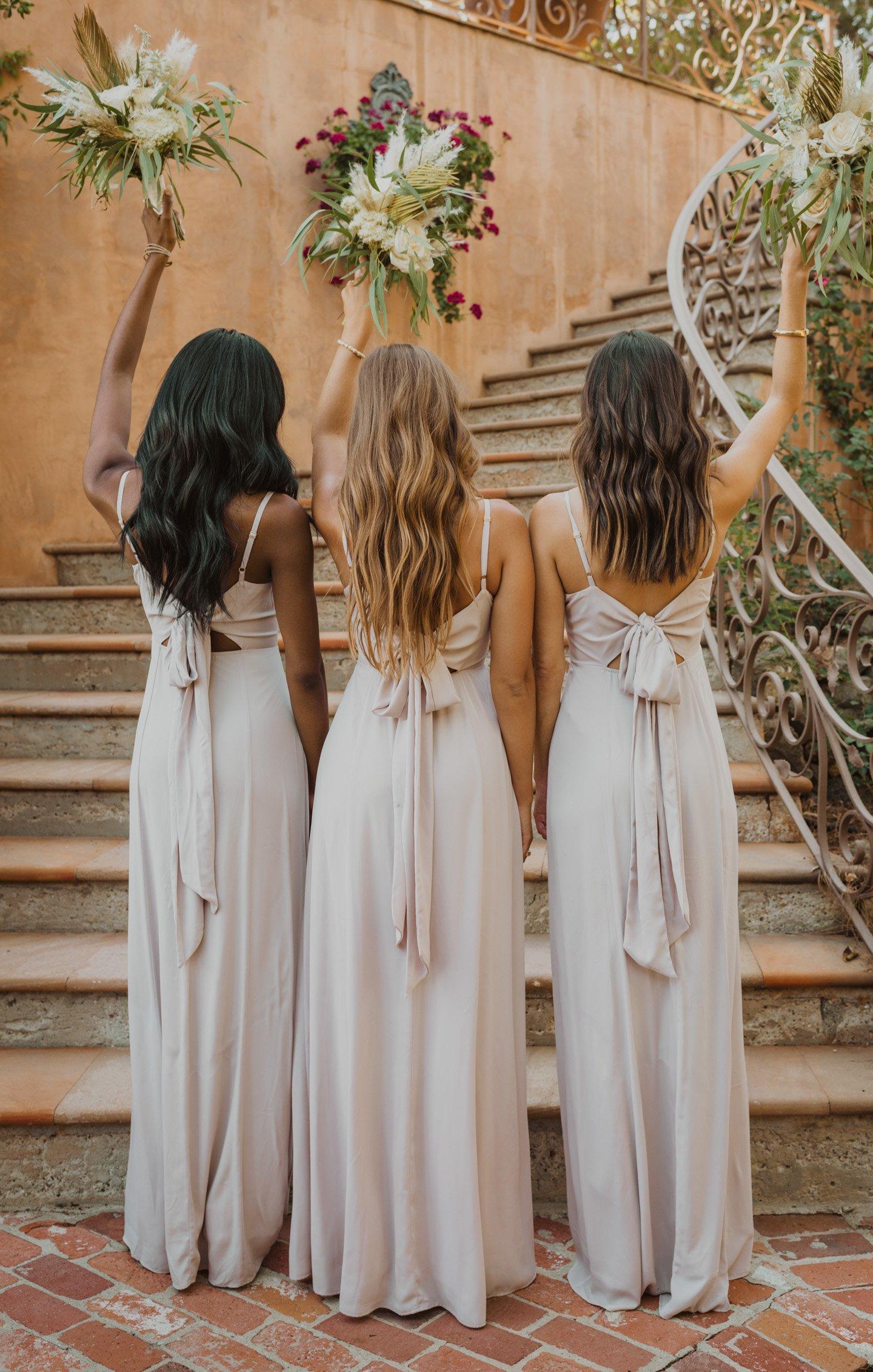 bridesmaid dresses, bridesmaid dress ideas, bridesmaid dress colors, bridesmaid dress styles, affordable bridesmaid dress, champagne bridesmaid dress, neutral bridesmaid dress, maxi bridesmaid dress