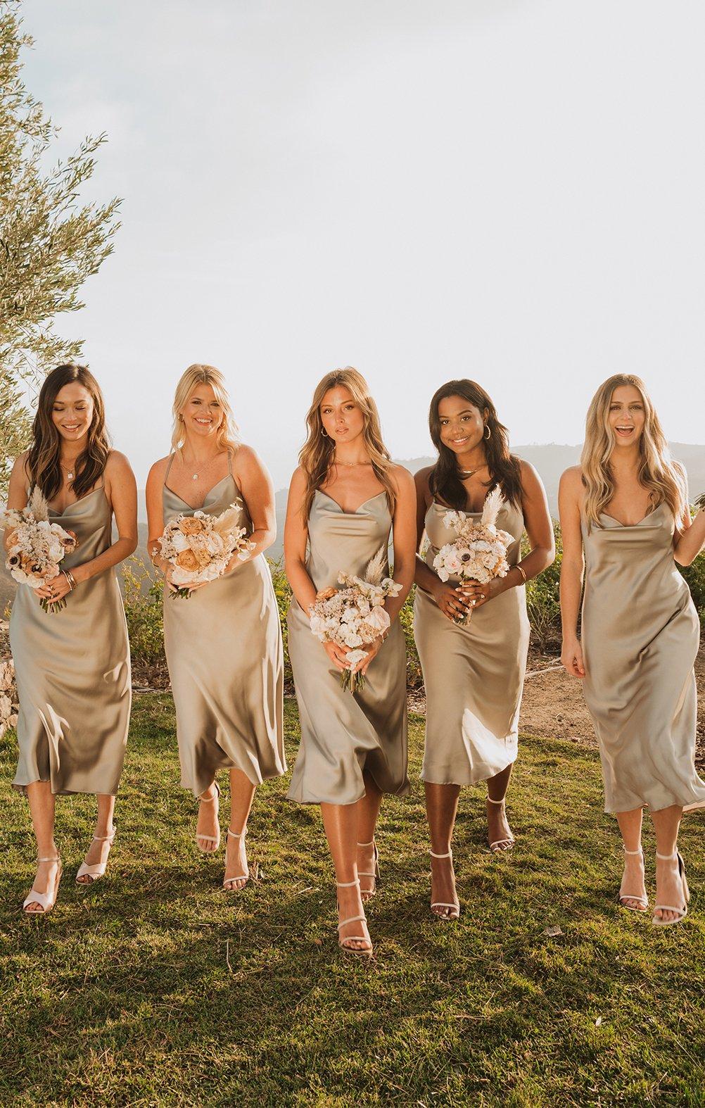 bridesmaid dresses, bridesmaid dress ideas, bridesmaid dress colors, bridesmaid dress styles, satin bridesmaid dress, green bridesmaid dress