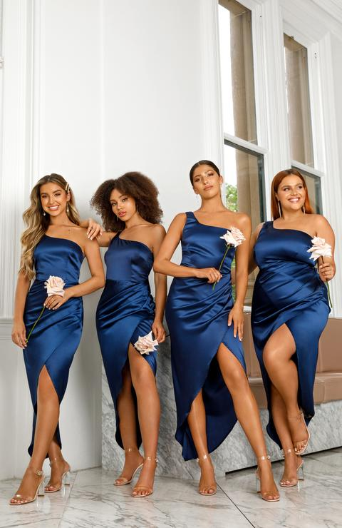 bridesmaid dresses, bridesmaid dress ideas, bridesmaid dress colors, bridesmaid dress styles, affordable bridesmaid dress, navy bridesmaid dress, one shoulder bridesmaid dress