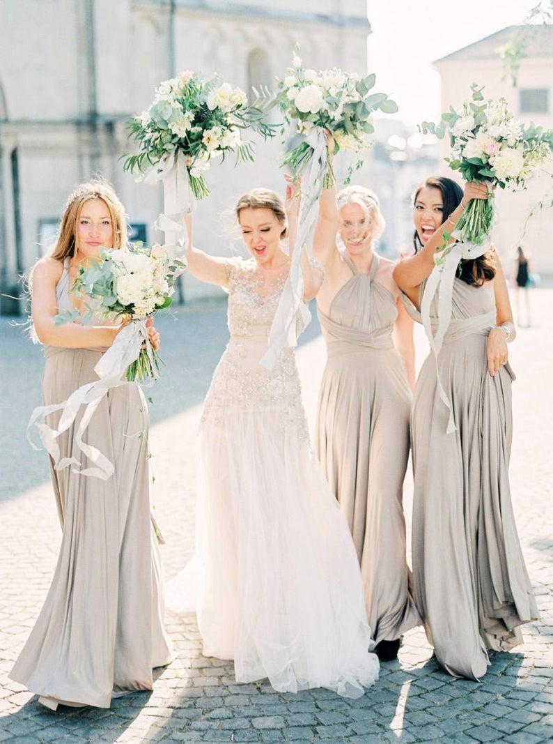 bridesmaid dresses, bridesmaid dress ideas, bridesmaid dress colors, bridesmaid dress styles, grey bridesmaid dress, convertible bridesmaid dress