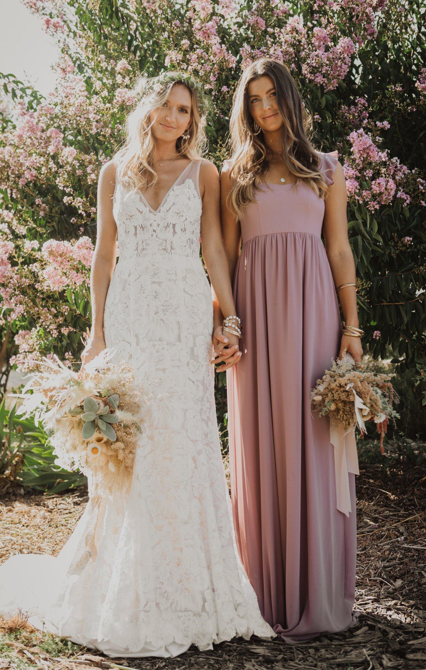 bridesmaid dresses, bridesmaid dress ideas, bridesmaid dress colors, bridesmaid dress styles, mauve bridesmaid dress, maxi bridesmaid dress