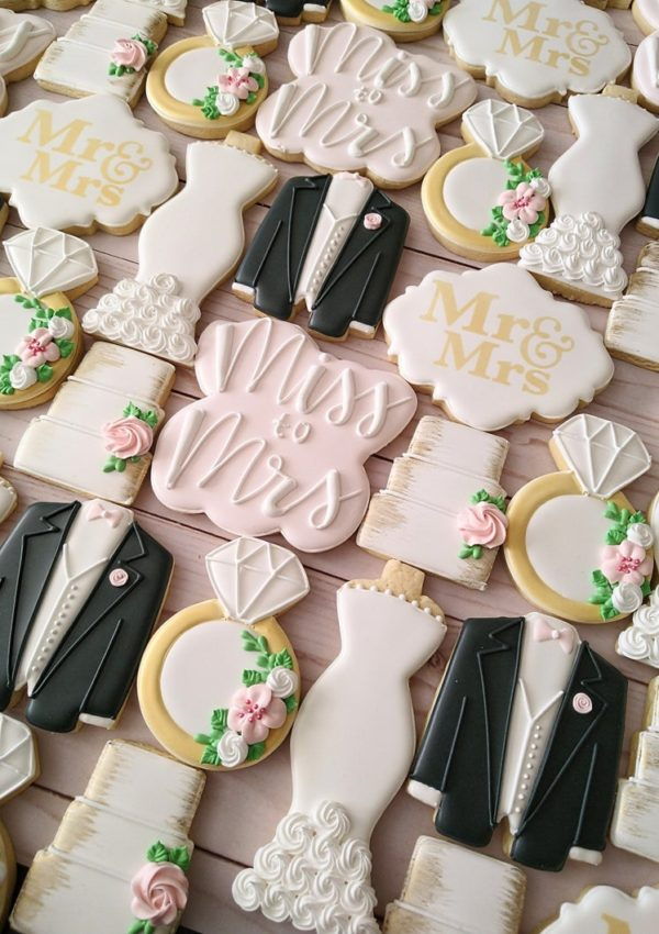 50+ Wedding Sugar Cookies For Your Bridal Shower!